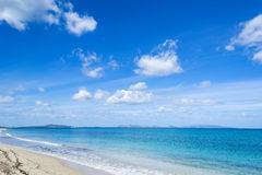 Fiume Santo beach under soft clouds Stock Photography
