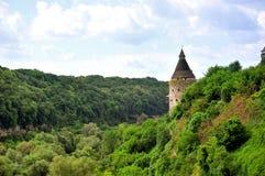 Fiume Smotrich del canyon vicino alla fortezza di Kamenetz-Podol'sk Fotografie Stock Libere da Diritti