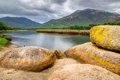 Fiume soggetto alle maree nel parco nazionale del promontorio di Wilsons Immagini Stock