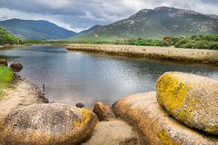 Fiume soggetto alle maree nel parco nazionale del promontorio di Wilsons Fotografia Stock