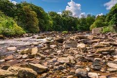 Fiume Swale sotto Richmond Falls fotografia stock libera da diritti