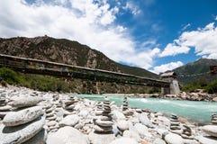 Fiume tibetano Fotografie Stock Libere da Diritti