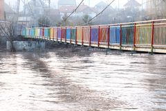 Fiume veloce dopo l'inondazione Immagine Stock Libera da Diritti