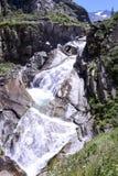 Fiume vicino al ponte del diavolo al passaggio della st Gotthard Fotografia Stock Libera da Diritti