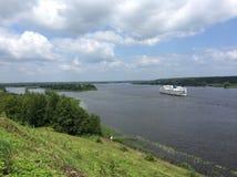 Fiume Volga Fotografia Stock Libera da Diritti
