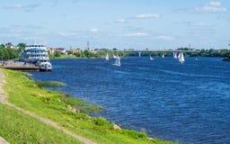 Fiume Volga Fotografia Stock