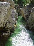 Fiume Walchen vicino al lago Sylvenstein Fotografie Stock Libere da Diritti
