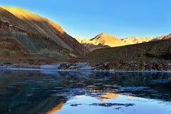 Fiume Zanskar, Himalaya, India del nord della montagna Immagine Stock Libera da Diritti