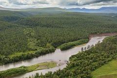 Fiume Zhupanova Riserva naturale di Kronotsky sulla penisola di Kamchatka Immagine Stock Libera da Diritti
