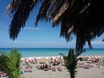 The fiumefreddo beach. The beach of fiumefreddo del bruzio in calabria in south italy royalty free stock photography