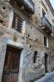 Fiumefreddo Bruzio town, Calabria, Italy. Fiumefreddo Bruzio street one of Italy's Most Beautiful Villages, on mountain hill top above Tyrrhenian sea royalty free stock photos