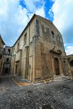 Fiumefreddo Bruzio town, Calabria, Italy. Fiumefreddo Bruzio street one of Italy's Most Beautiful Villages, on mountain hill top above Tyrrhenian sea royalty free stock photography