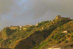 Fiumefreddo clouds. A view of fiumefreddo del bruzio in south italy royalty free stock image