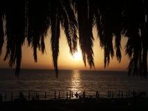 Fiumefreddo silhouette. A magic sunset with silhouette at fiumefreddo del bruzio in south italy stock photo