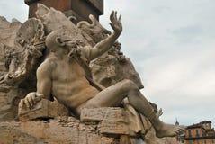 Fiumi de quattro de dei de Fontana, Roma Photo libre de droits