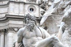 Fiumi de quattro de dei de Fontana, Roma Photos libres de droits