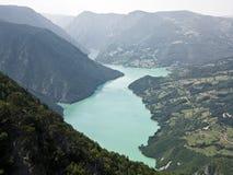 Fiumi della montagna e di Drina della Cesalpina fotografia stock libera da diritti