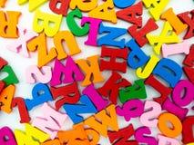 Fiumi delle lettere colorate fotografia stock libera da diritti