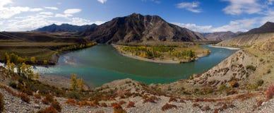 Fiumi di Altai Fotografia Stock