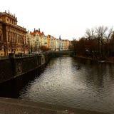 Fiumi di Praga Immagini Stock