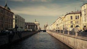 Fiumi e canali di St Petersburg stock footage
