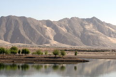 Fiumi e montagne, Tibet Immagini Stock