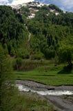 Fiumi in montagne Immagine Stock