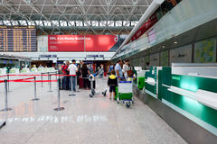 Fiumicino Airport interior Royalty Free Stock Images