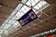 Fiumicino Airport interior Stock Images