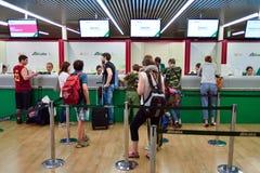 Fiumicino Airport interior Stock Image