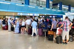Fiumicino Airport interior Stock Photos