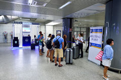 Fiumicino Airport interior Royalty Free Stock Photography