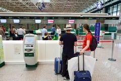 Fiumicino Airport interior Stock Photo