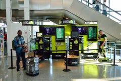 Fiumicino Airport interior Royalty Free Stock Photos