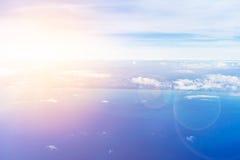Fiumicino-Bucht von den Flugzeugen Lizenzfreies Stockfoto