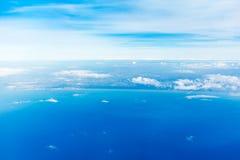 Fiumicino-Bucht von den Flugzeugen Stockfotografie