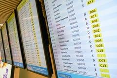Fiumicino internationale luchthaven stock foto