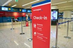 Fiumicino internationale luchthaven stock fotografie