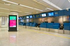 Fiumicino internationale luchthaven stock afbeeldingen