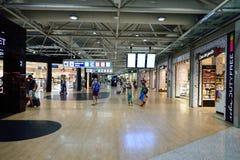 Fiumicino lotniska wnętrze Zdjęcia Royalty Free