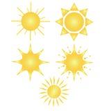 Fiva suns Royalty Free Stock Photo