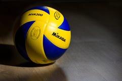 FIVB auf Gymnastikfußboden Lizenzfreies Stockfoto