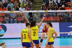2015 FIVB-de Grand Prix van de Volleyballwereld Royalty-vrije Stock Foto's