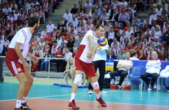 FIVB Poland Brasil Volleyball Royalty Free Stock Photo