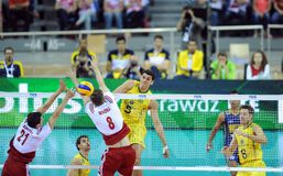 FIVB Poland Brasil Volleyball Royalty Free Stock Photography