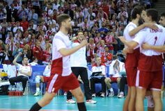 FIVB Poland Brasil Volleyball Royalty Free Stock Images