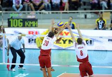 FIVB Poland Brasil Volleyball Royalty Free Stock Image