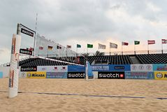 FIVB World Tour. SWATCH-FIVB (Federation Internationale de Volleyball) World Tour Stock Photo
