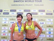 fivbprovkartan för 2011 strand turnerar volleybollvärlden royaltyfri foto