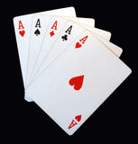 Five aces stock photos
